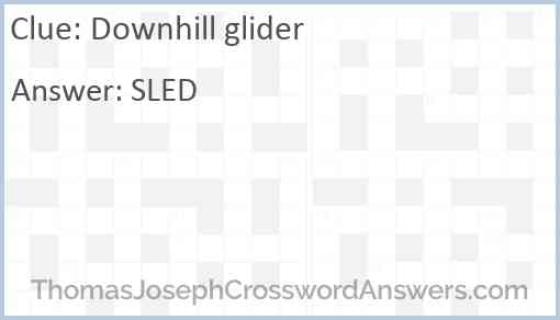 Downhill glider Answer