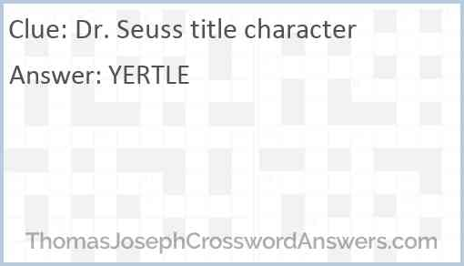 Dr. Seuss title character Answer