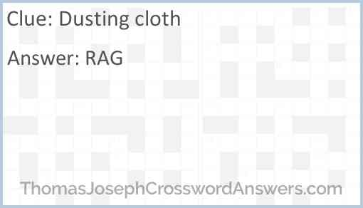 Dusting cloth Answer