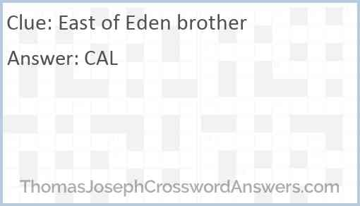 East of Eden brother Answer
