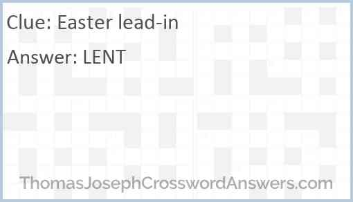 Easter lead-in Answer