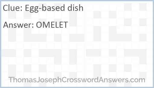 Egg-based dish Answer
