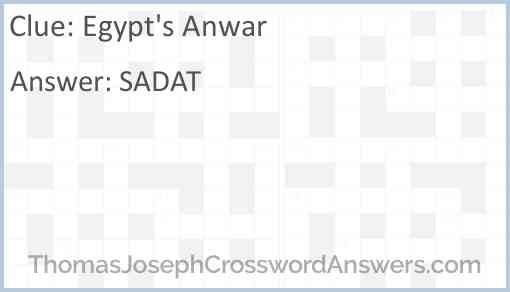 Egypt's Anwar Answer