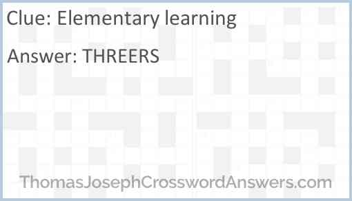 Elementary learning Answer