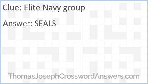 Elite Navy group Answer