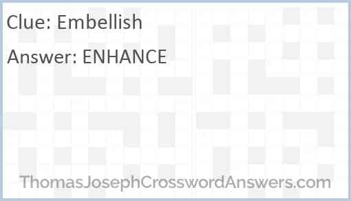 Embellish Answer