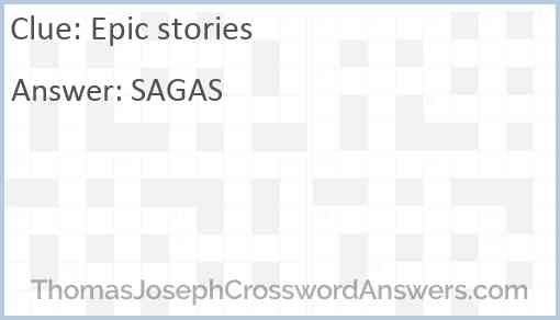 Epic stories Answer