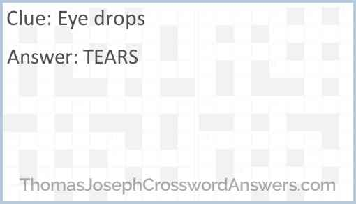 Eye drops Answer