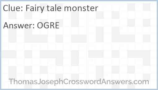 Fairy tale monster Answer