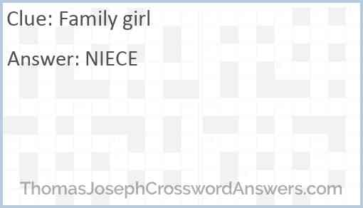 Family girl Answer