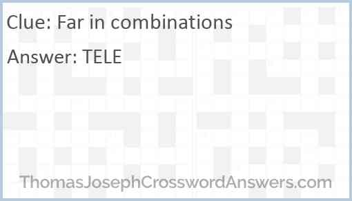 Far in combinations Answer