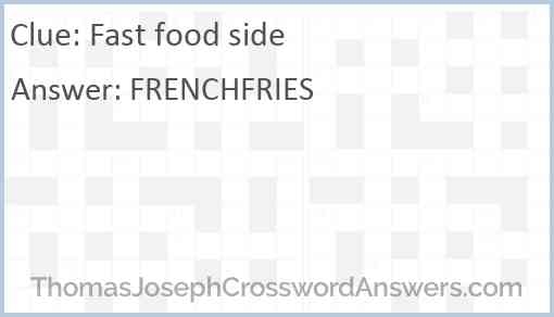 Fast food side Answer