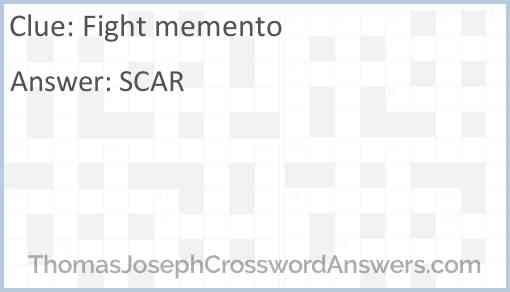 Fight memento Answer