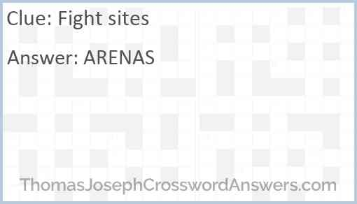 Fight sites Answer