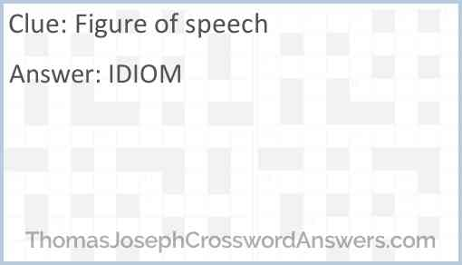 Figure of speech Answer