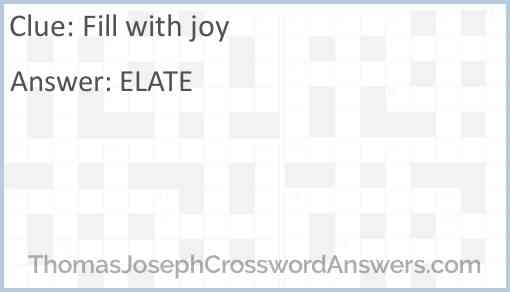 Fill with joy Answer
