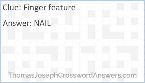 Finger feature Answer