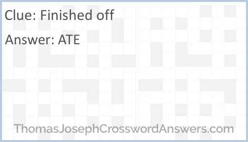 Finished off Answer