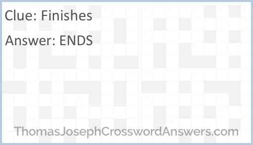 Finishes Answer