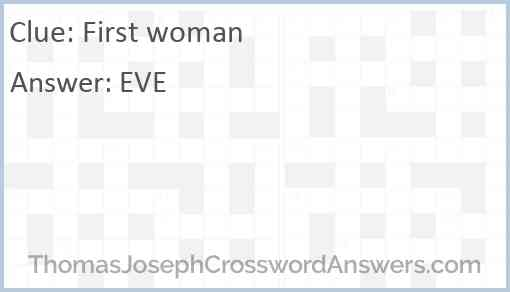 First woman Answer