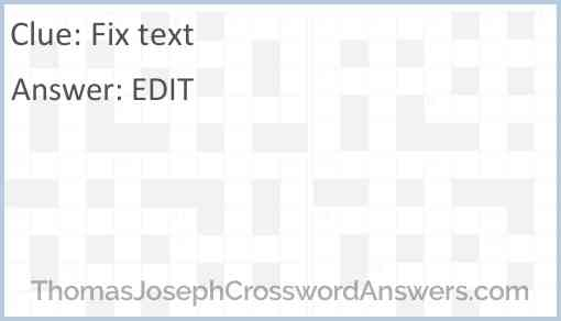 Fix text Answer