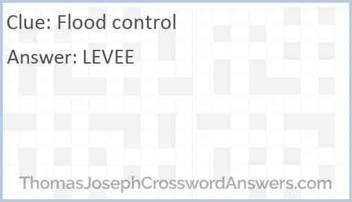 Flood control Answer
