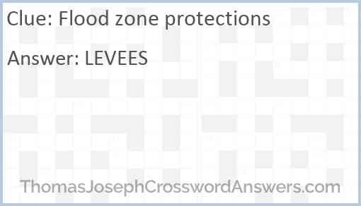 Flood zone protections Answer