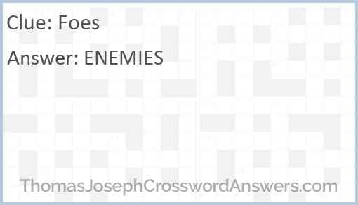 Foes Answer