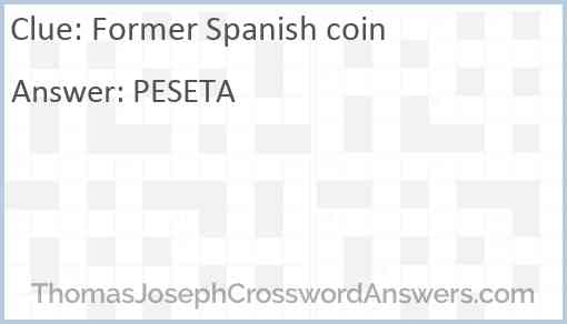 Former Spanish coin Answer