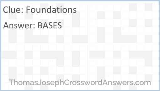 Foundations Answer