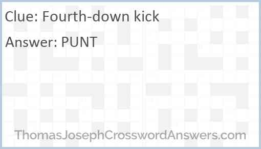 Fourth-down kick Answer