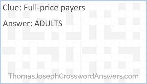 Full-price payers Answer