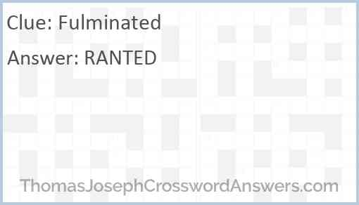 Fulminated Answer