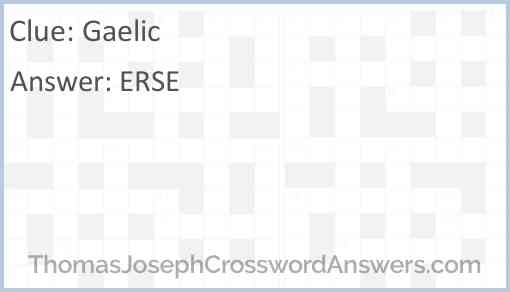 Gaelic Answer