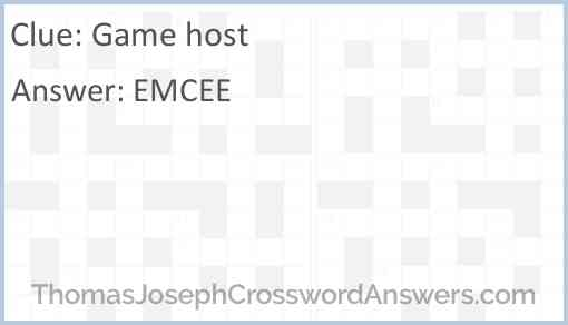 Game host Answer