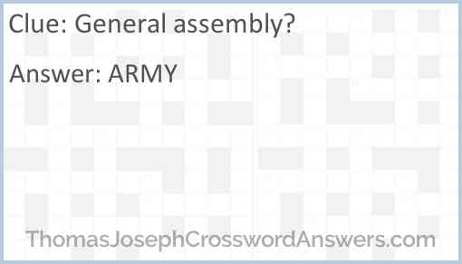 General assembly? Answer