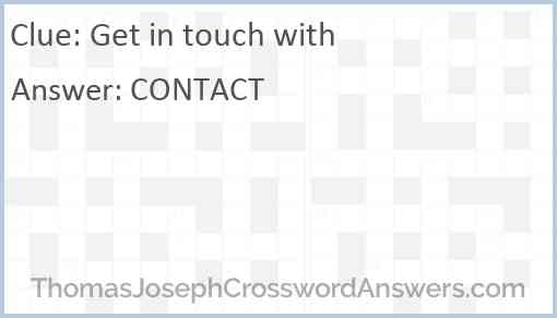 Get in touch with Answer