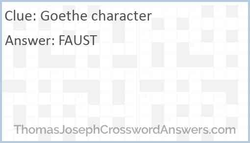 Goethe character Answer