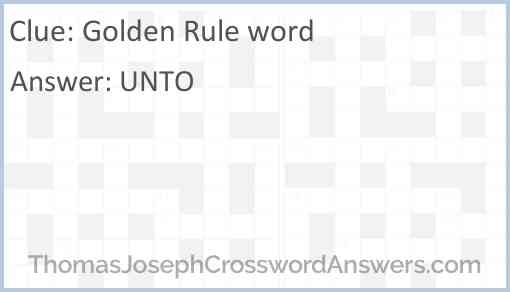Golden Rule word Answer