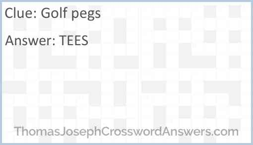 Golf pegs Answer