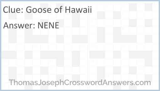 Goose of Hawaii Answer
