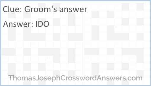 Groom's answer Answer