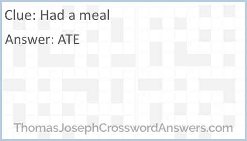 Had a meal Answer