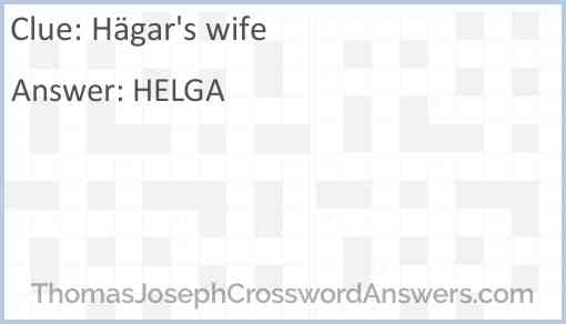 Hägar's wife Answer