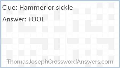 Hammer or sickle Answer