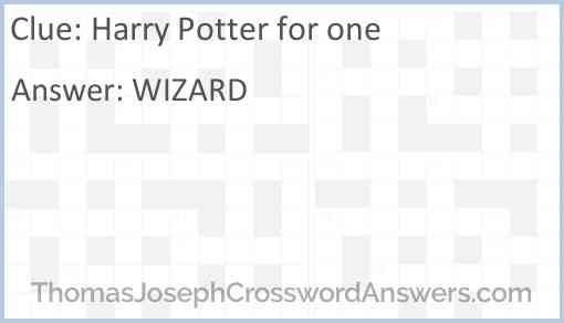 Harry Potter for one Answer