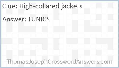 High-collared jackets Answer