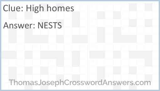 High homes Answer