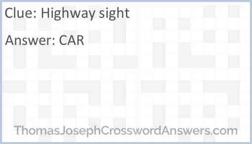 Highway sight Answer