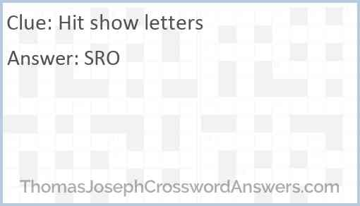 Hit show letters Answer